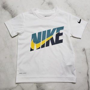 Nike Dri-Fit white graphic swoosh t-shirt